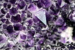Amethyst. Zoom on an amethyst geod Royalty Free Stock Images