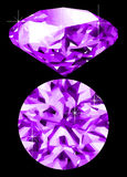 Amethyst. A vector amethyst against a black background Stock Photos