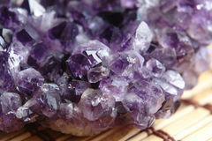 Amethyst. Close up of the amethyst Royalty Free Stock Photography