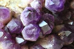 Amethyst background Stock Photos