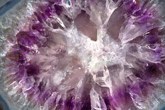 amethyst bakgrundsmakro Arkivfoto