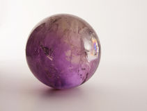 Amethyst ball Royalty Free Stock Images