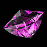 Amethyst. On a black background Royalty Free Stock Photo