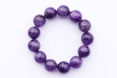 Amethyst bracelet Royalty Free Stock Photo