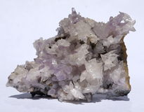 Amethyst and Calcite crystals Royalty Free Stock Photo