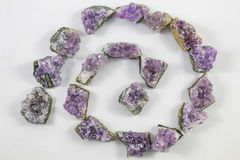 Amethyst chunks spiral Stock Images