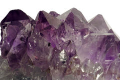 Amethyst closeup isolated. Stone collection Stock Images
