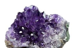Free Amethyst Cluster Closeup Stock Image - 174810181