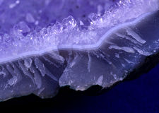 Amethyst cluster edge Royalty Free Stock Image