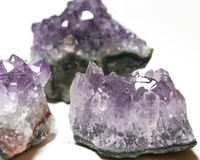 Amethyst clusters royalty free stock images