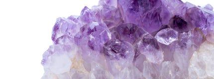 Amethyst crystal. Natural Amethyst crystal gem stone close-up macro stock photo