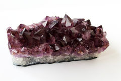 Amethyst crystal cluster Royalty Free Stock Photos