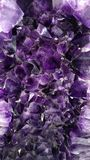 Amethyst crystal druse Royalty Free Stock Photo