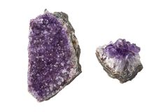 Amethyst crystal raw. Alternative healing Royalty Free Stock Image