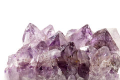 Amethyst crystal on white backround Royalty Free Stock Photography