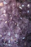 Amethyst crystals background Stock Photo