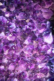 Amethyst crystals background Stock Photography
