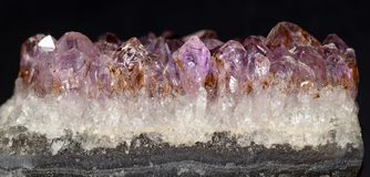 Amethyst Crystals. Beautiful shapes and natures designs Stock Photography