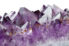 Amethyst crystals Stock Images