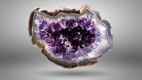 Amethyst druse Stock Photo