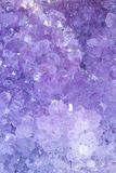 Amethyst Purple Background -  Stock Photos. Amethyst  druse : Geode Crystals structure - Purple Background Royalty Free Stock Image