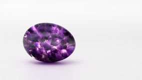 Amethyst egg on a white background.  Royalty Free Stock Photos