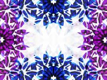 Amethyst frame 2 Royalty Free Stock Image