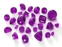 amethyst gems stock illustrationer