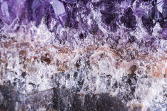 Amethyst geode on black background Royalty Free Stock Image
