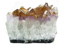 Amethyst geode geological crystals Stock Images