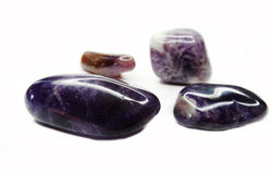 Amethyst geode geological crystals Royalty Free Stock Image