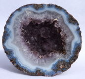 Amethyst Geode from Mexico Royalty Free Stock Photos