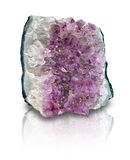 Amethyst geode slab isolated Stock Images