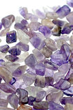 Amethyst gravel necklace Royalty Free Stock Images