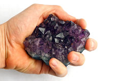 Amethyst hand Royalty Free Stock Image