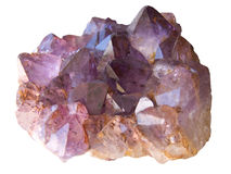 Amethyst isolated Stock Photo