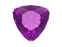 Amethyst isolated on white background Stock Photography