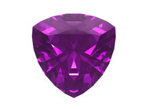 Amethyst isolated on white background. Usable for catalogue of gemstones, cites etc vector illustration
