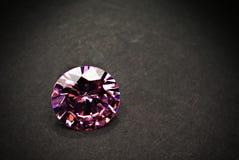 Amethyst Jewel. On black background Stock Image