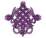 Amethyst knot. Abstract tribal design inspired by the structure of amethyst molecules royalty free illustration