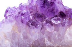 Amethyst kristall Arkivbild