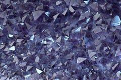 amethyst kristaller Arkivfoto