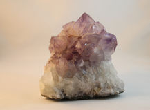 amethyst kristaller Royaltyfri Fotografi