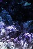 amethyst kristaller Fotografering för Bildbyråer