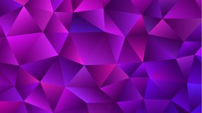 Amethyst Low Poly Backdrop. Trendy Violet Triangle stock illustration