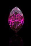 Amethyst. Marquis. Jewelry gems. On black background stock illustration