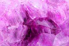 Amethyst mineral background Stock Images