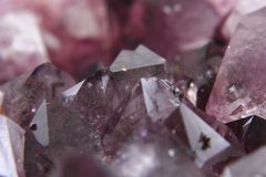 Amethyst mineral background Royalty Free Stock Images