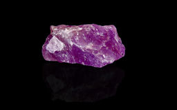 Amethyst. Mineral on black background Royalty Free Stock Photography