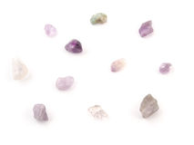 Amethyst natural crystals gem isolated on white background Stock Photography